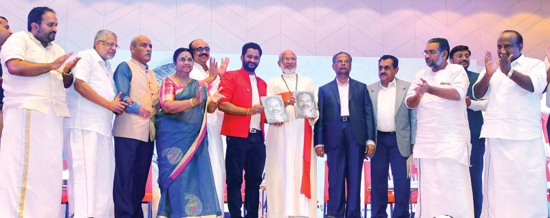 Dignitaries at the book release held in Kochi