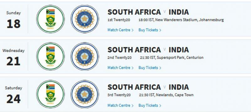 India vs South Africa vs England