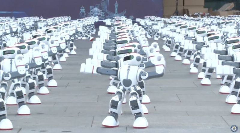 Check out 1069 dancing robots creating a world record