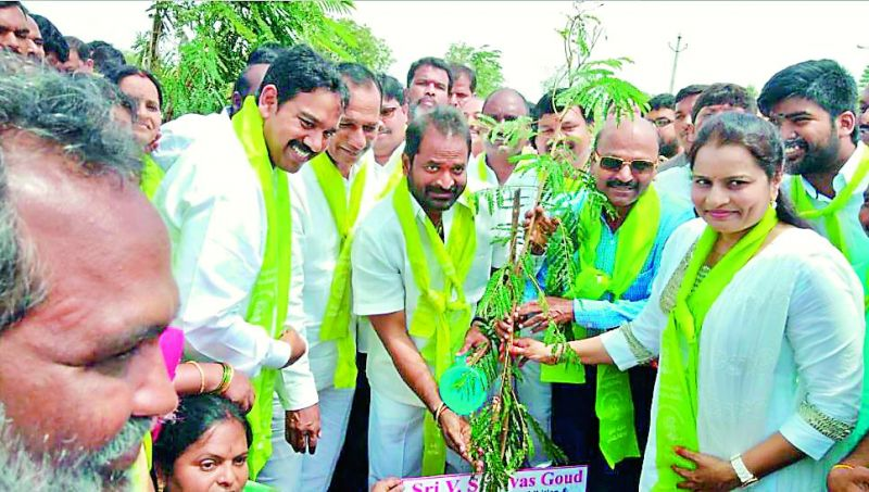 Minister Srinivas Goud too announced a plantation drive to mark the TRS leader on his 43rd birthday