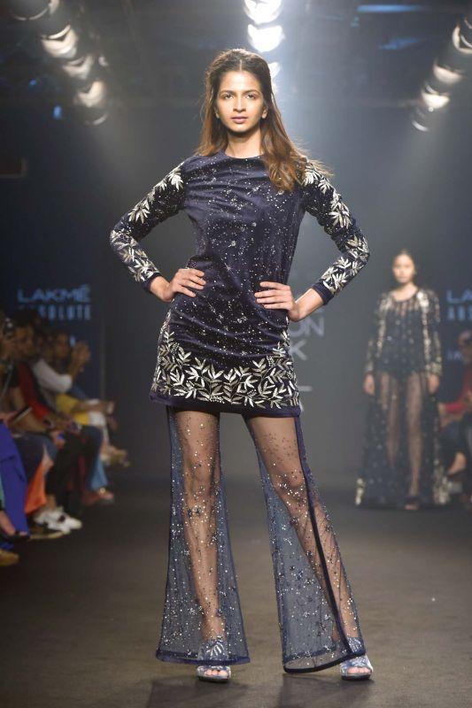 A model wearing a Mishru dress