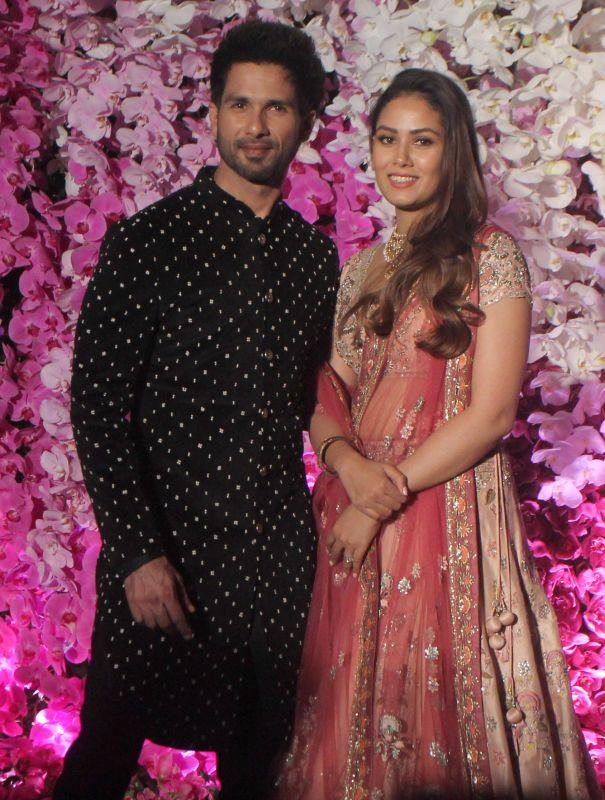 Shahid Kapoor with wife Mira Rajput. (Photo Courtesy: Mrugesh Bandiwadekar)