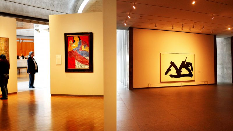 Art on display at the Kimbell (left) and the Modern museums, with both the museums catering to artworks with different spatial needs. (Photo: Amit Khanna),
