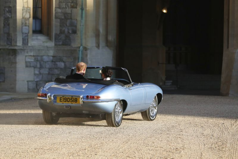 The car was given a new licence plate with the date of Harry and Meghan's wedding on Saturday. (Photo: AP)