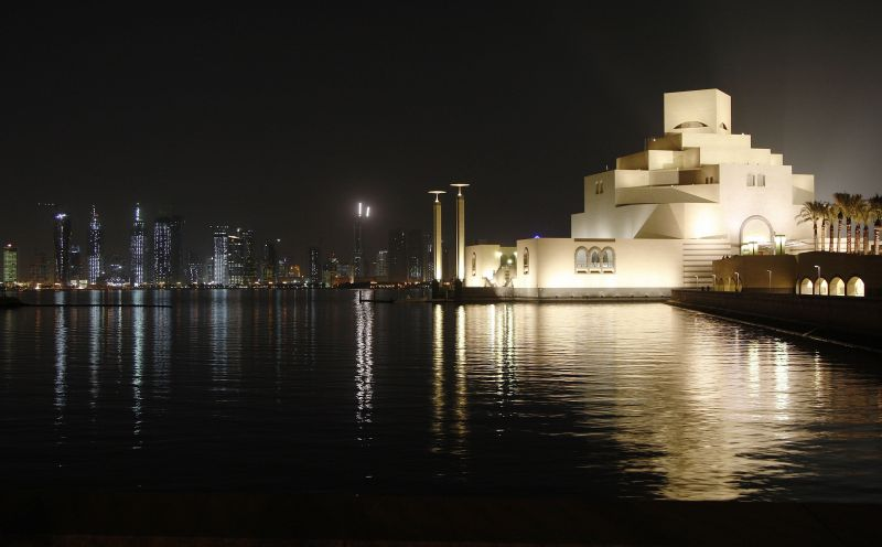 The Museum of Islamic Art (foreground) designed by architect I M Pei and the skyline of Doha, Qatar. (Photo: AP)