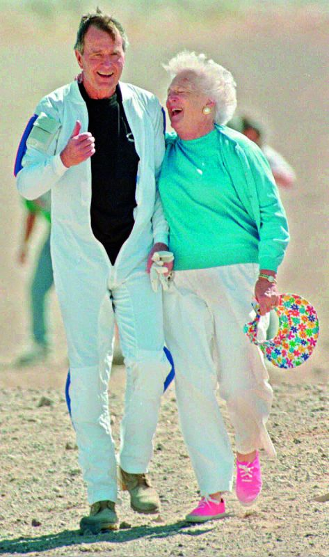 George Bush Senior and Barbara Bush