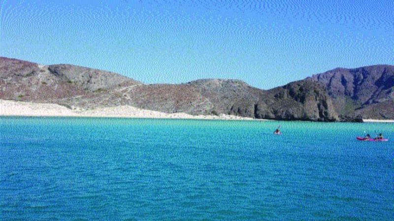 La Paz beach.