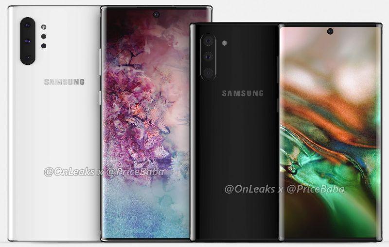 Samsung Galaxy Note 10 Pro renders