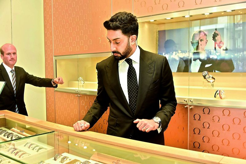 The suave and dapper Abhishek Bachchan recently launched the Seamaster Diver 300M, one of OMEGA's most iconic timepieces in Hyderabad, making it the first city in India to receive the collection.