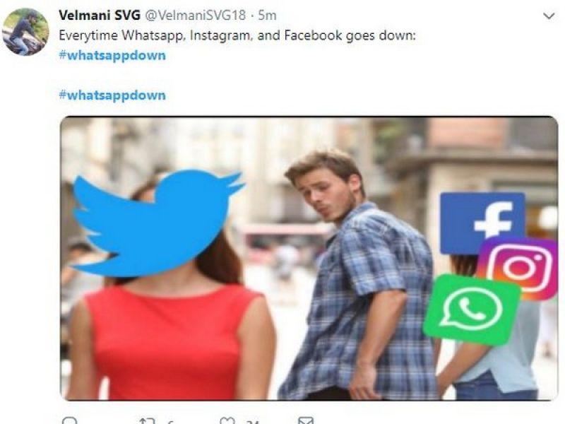 WhatsApp Down memes
