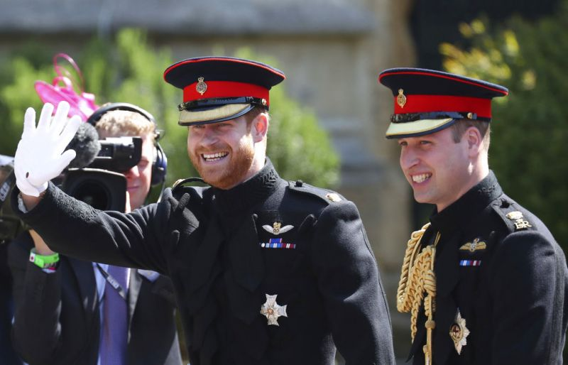 ritain's Prince Harry, left, walks with his best man, Prince William as they arrive for the wedding ceremony of Prince Harry and Meghan Markle at St. George's Chapel in Windsor Castle in Windsor, near London. (Photo: AP)