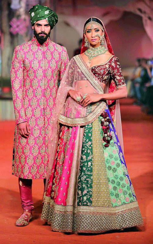 A traditional  collection designed by Sabyasachi Mukherjee