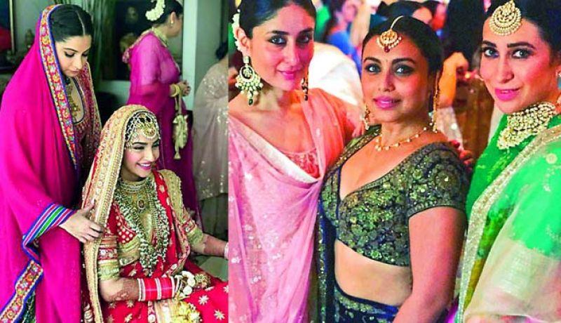 Rhea Kapoor with her sister Sonam. Rani Mukerji and Karishma Kapoor