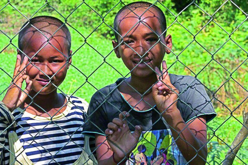Kids at The Killing Fields