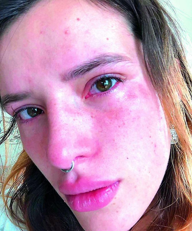 Bella Thorne shared a slideshow of photos which showed her crying on her Insta account.