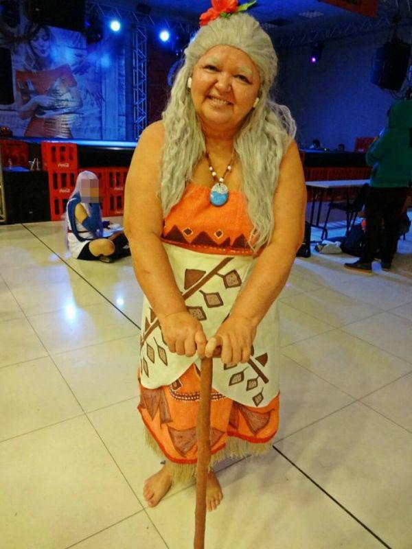 Solange Nascimento Amorim as Gramma Tala from Moana (Photo: Facebook)