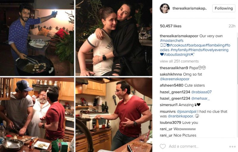 Ranbir Saif display their cooking skills as Kapoors enjoy fun evening together