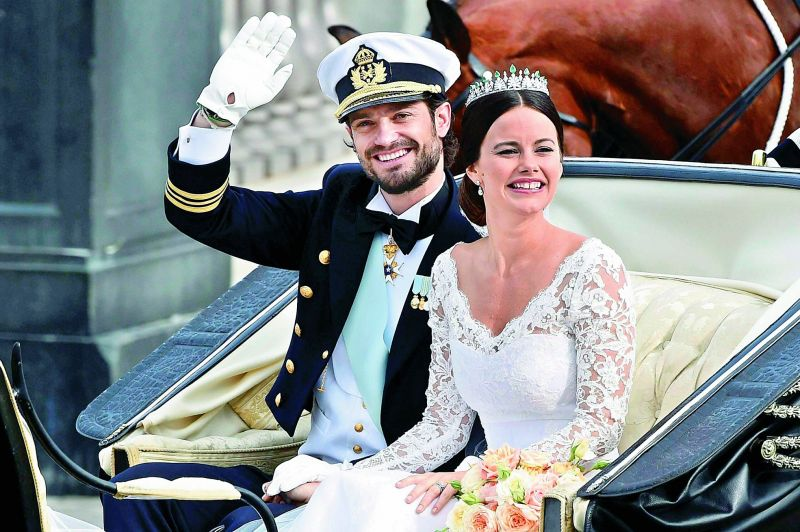 Sweden's Prince  Carl Philip and Sofia Hellqvist (prior to her marriage, she was a glamour model and reality television contestant)