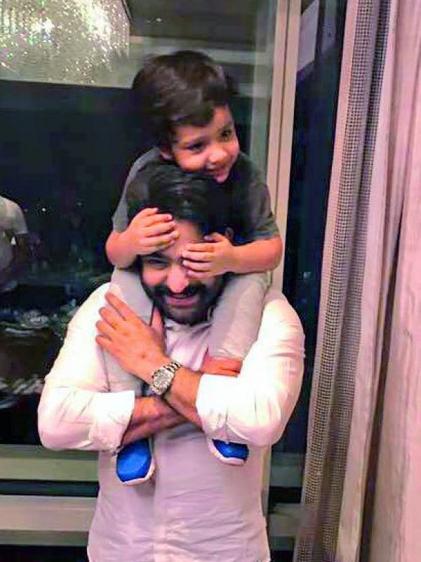 Jr NTR with his son Abhay Ram