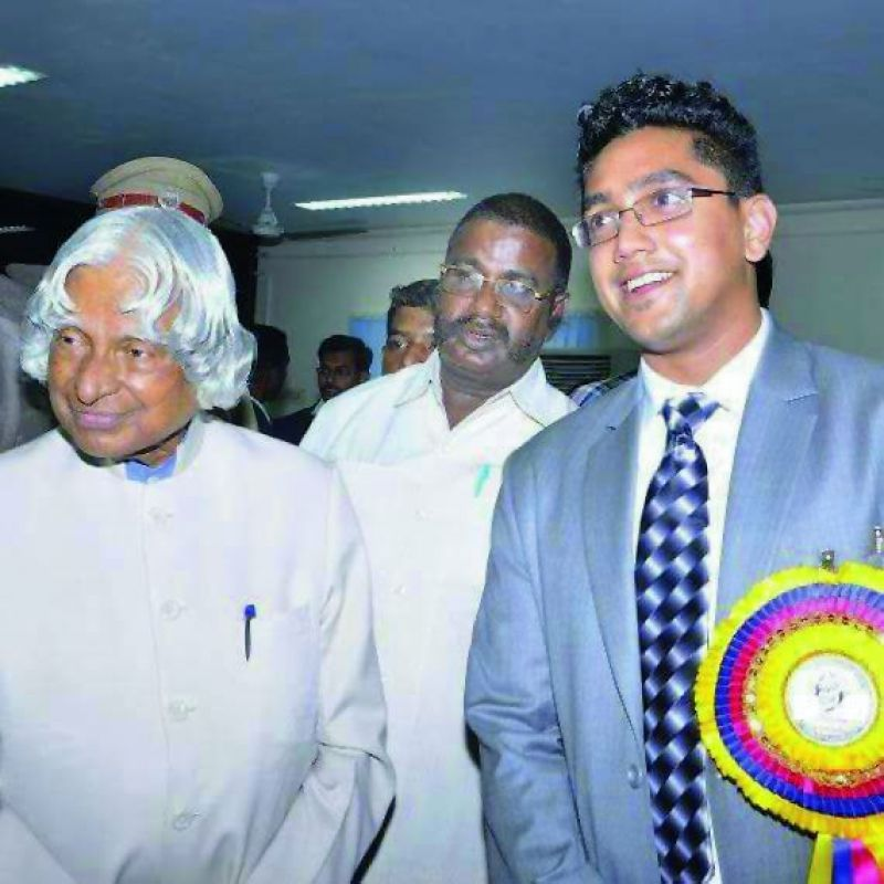 Agnishwar with former President, the late Abdul Kalam