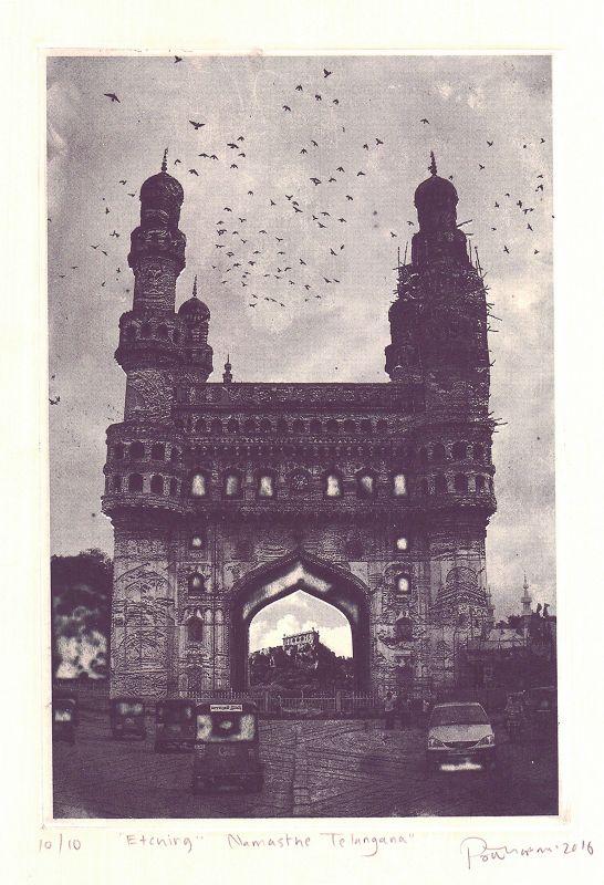Poushali Das' artwork of Charminar