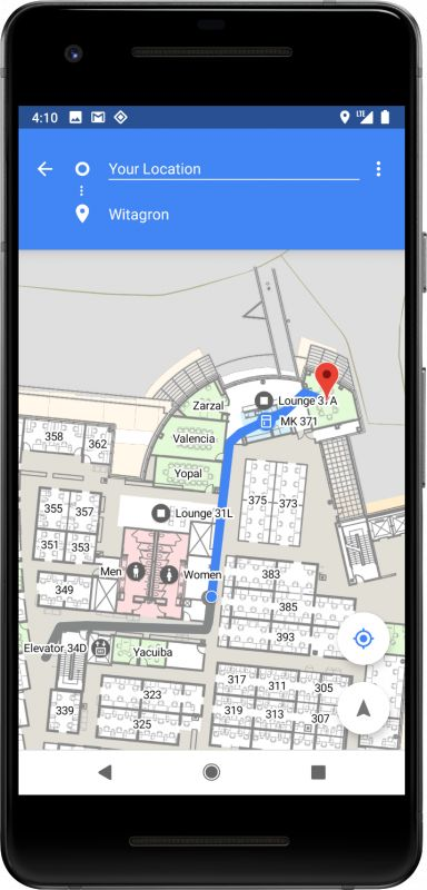 Android P indoor navigation