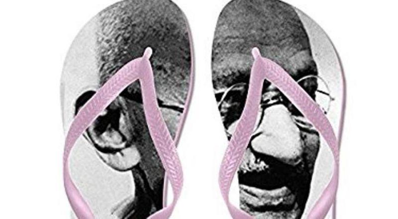 Mahatma Gandhi flip flops