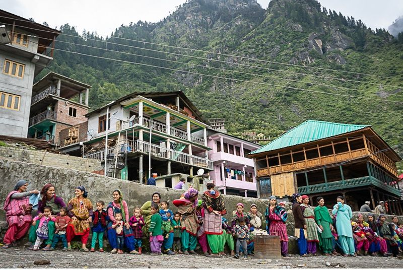 Mothers in Malana happily participate in each immunisation session and there is no unvaccinated children left in Malana today. (Photo: MoHFW)