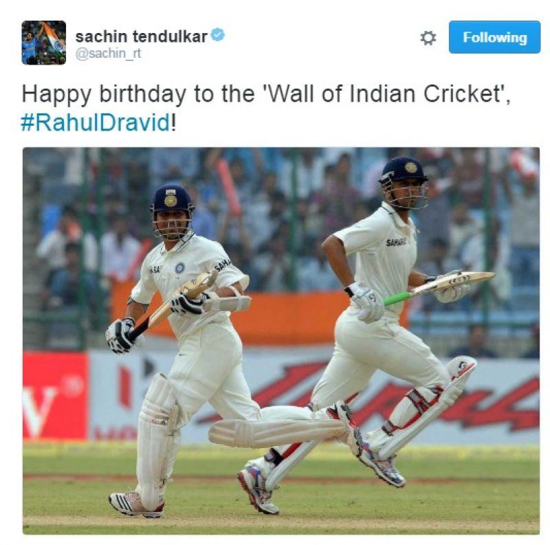 Rahul Dravid, Sachin Tendulkar