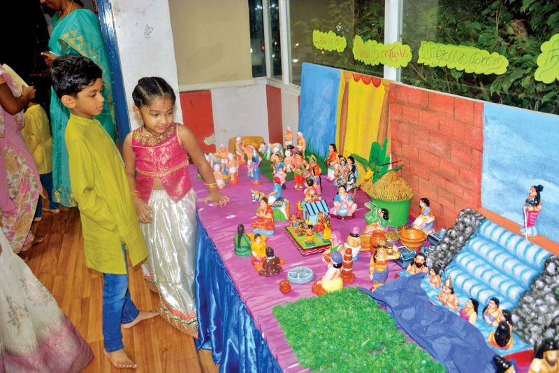 Kids explaining Sangam age depiction. (Photo: A.R. ANSER)