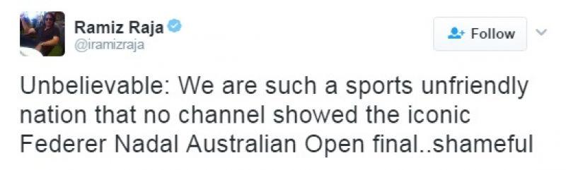 Ramiz Raja, Australian Open final, Roger Federer, Rafael Nadal