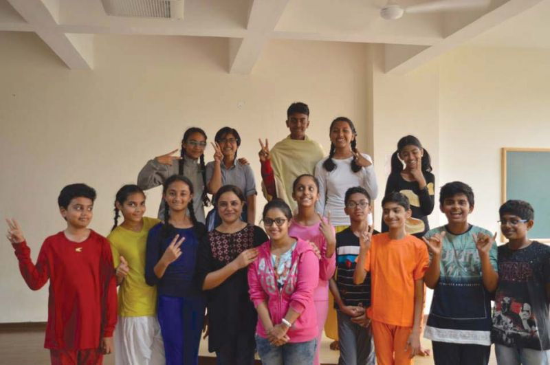 The team of students from Deccan International School