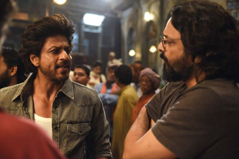 Shahrukh and Mohanan during the shooting of Raees