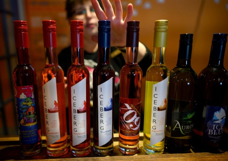 Auk Island Winery sells iceberg berry wines in the Newfoundland village of Twillingate. (Photo: AFP)