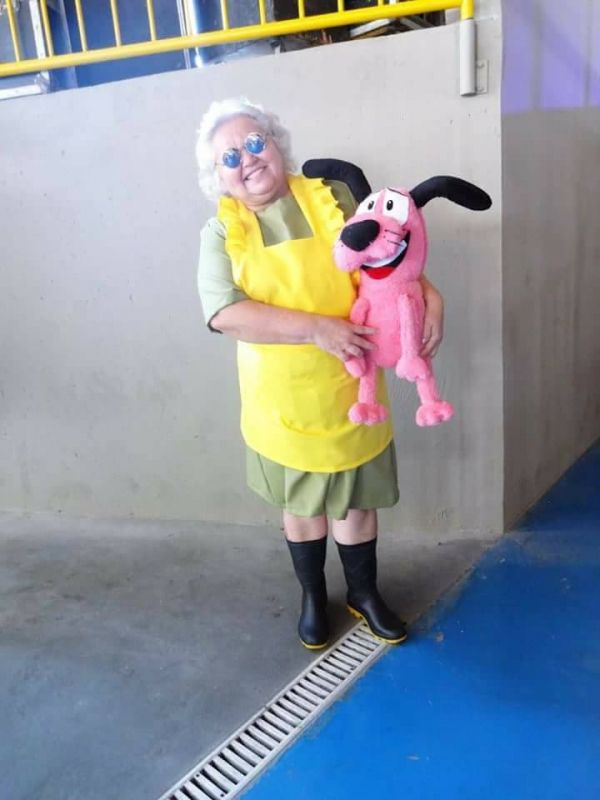 Dressed up as Muriel from Courage the Cowardly Dog (Photo: Facebook)