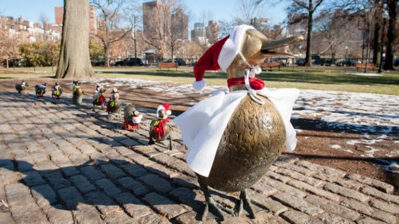 Early U.S. history infuses holiday celebrations in Boston, as do ducks.