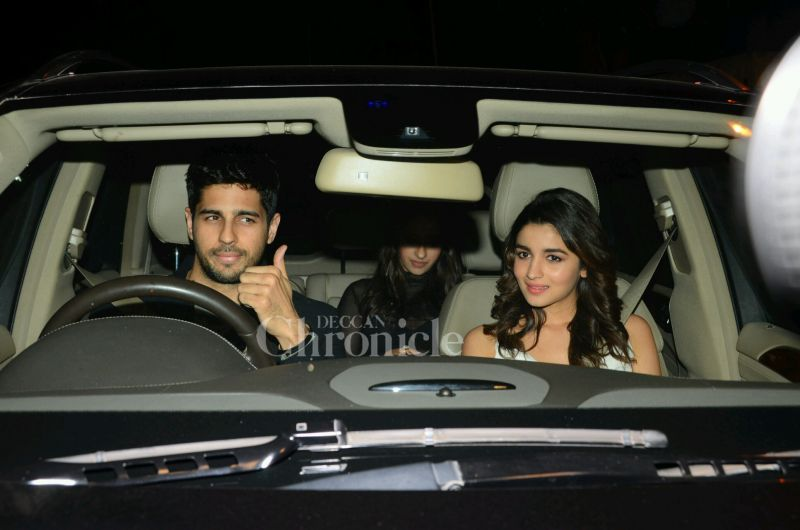 Sidharth Malhotra came in with is rumoured girlfriend Alia Bhatt, driving her himself.