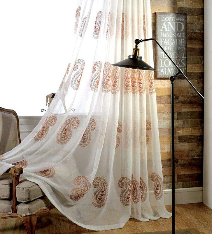 Curtains can add a delicate hue to your space