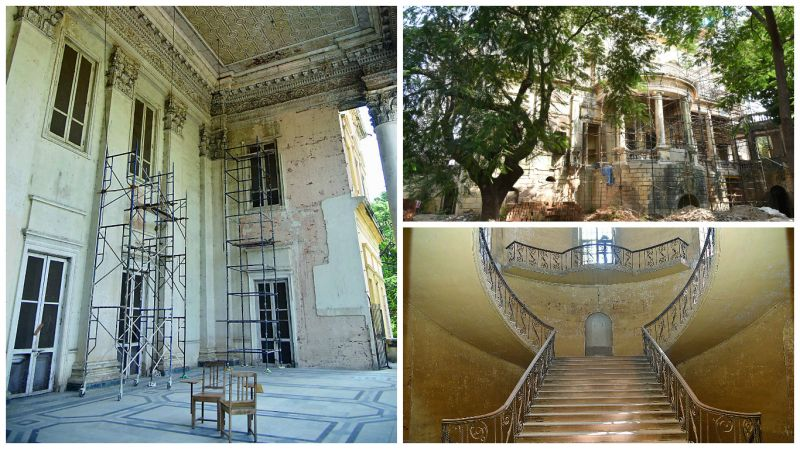 Another view of the restoration works at the former British Residency at Koti in Hyderabad. (Photo: DC)