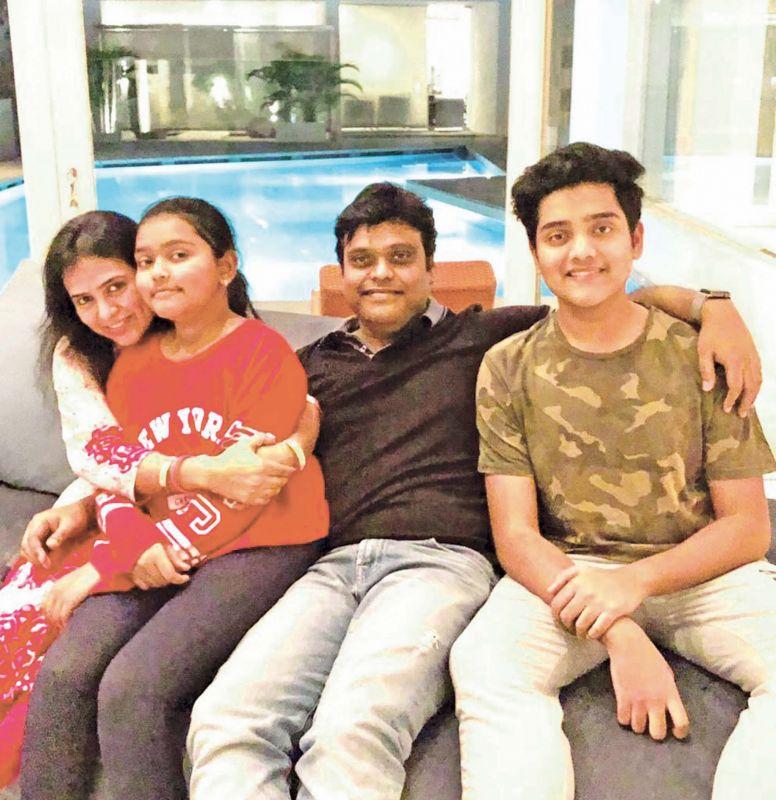Nikitha with her family