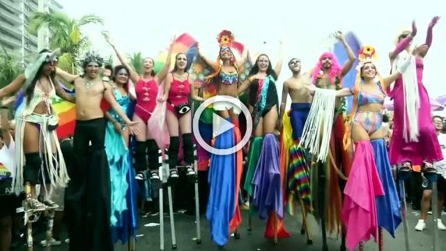 LGBTI pride celebrated on Brazil's Copacabana beach