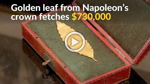 Golden leaf from Napoleon's crown gets $730,000
