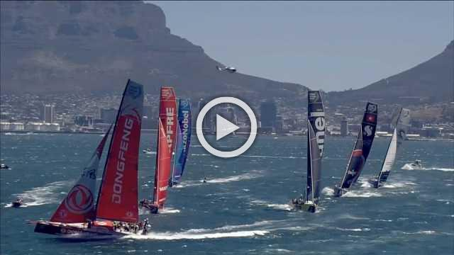 Ocean Race third leg starts from Cape Town with Team Brunel in early lead
