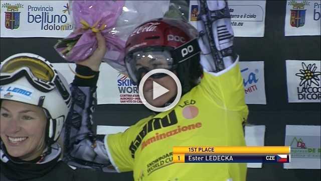 Ester Ledecka continues impressive form in lead up to Winter Games