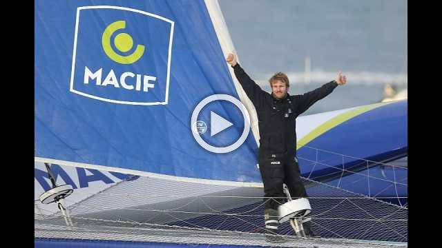 French sailor claims non-stop solo world record