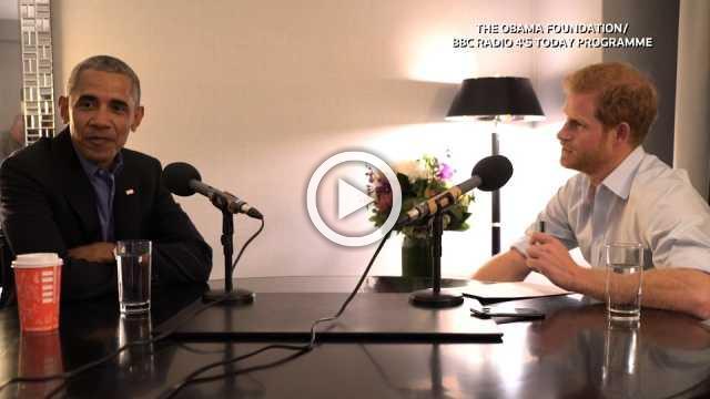 Prince Harry interviews Barack Obama for BBC radio show