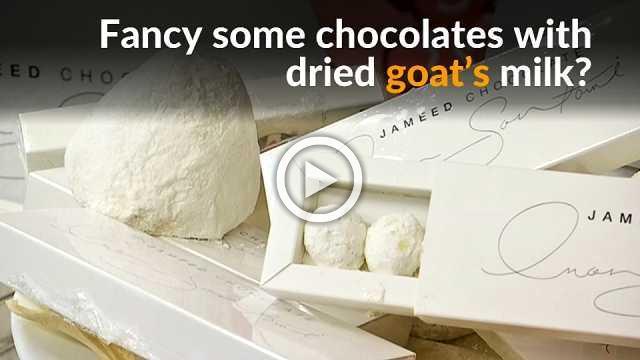 Jordanian chocolate maker adds goat's milk to its treats