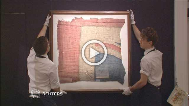 Piece of flag Nelson flew at Trafalgar to go up for auction