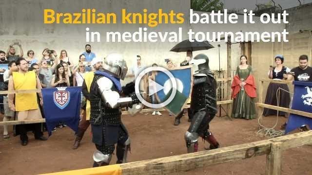 Brazilian 'knights' revive chivalry age in medieval tournament