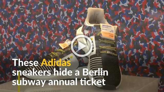 In Berlin, Adidas sneakers come with subway season ticket